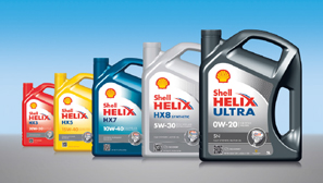 Shell Helix range of  motor oils